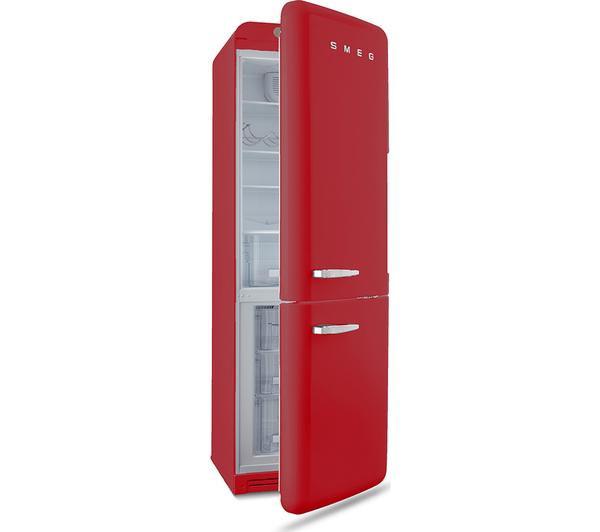 Sentinel Smeg Fab32lnr 60 40 Fridge Freezer Red