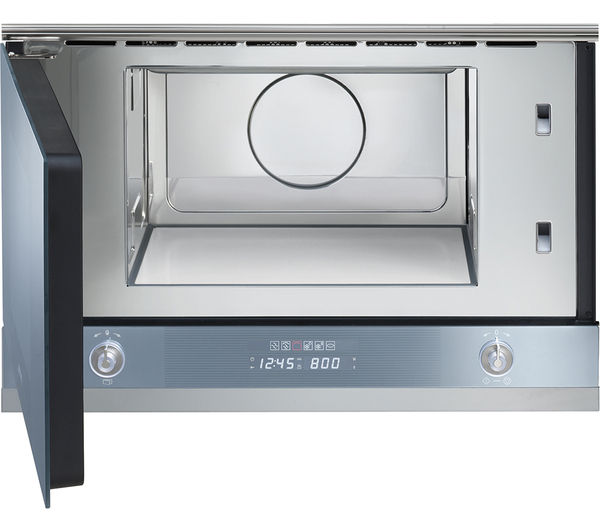 Smeg Linea Mp122 Built In Microwave With Grill Silver Ebay