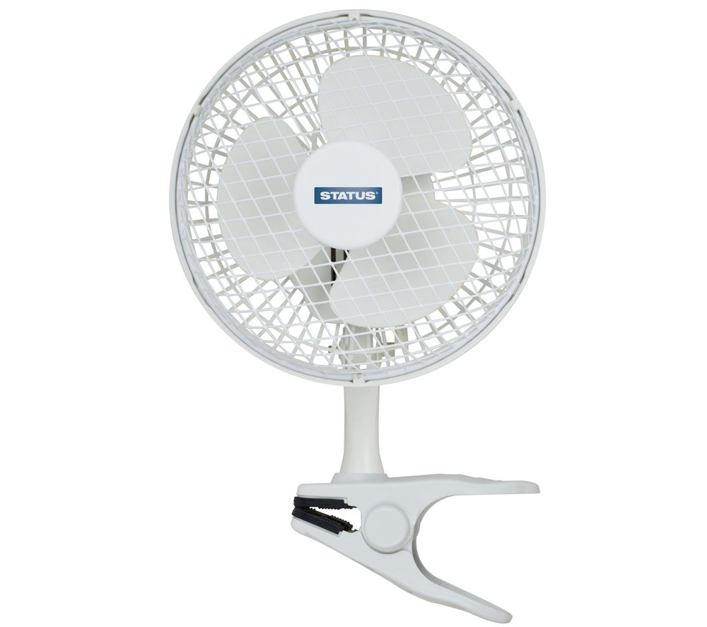 Status 6 Clip Desk Fan White