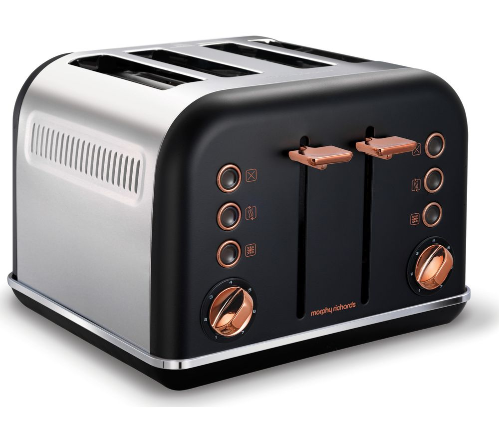 Morphy Richards Accents 242104 4 Slice Toaster Black