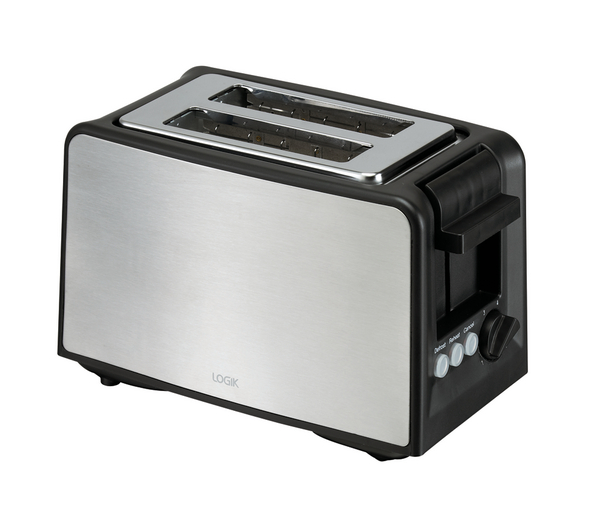 LOGIK L02TBS13 2 Slice Toaster High lift eject Extra wide slots