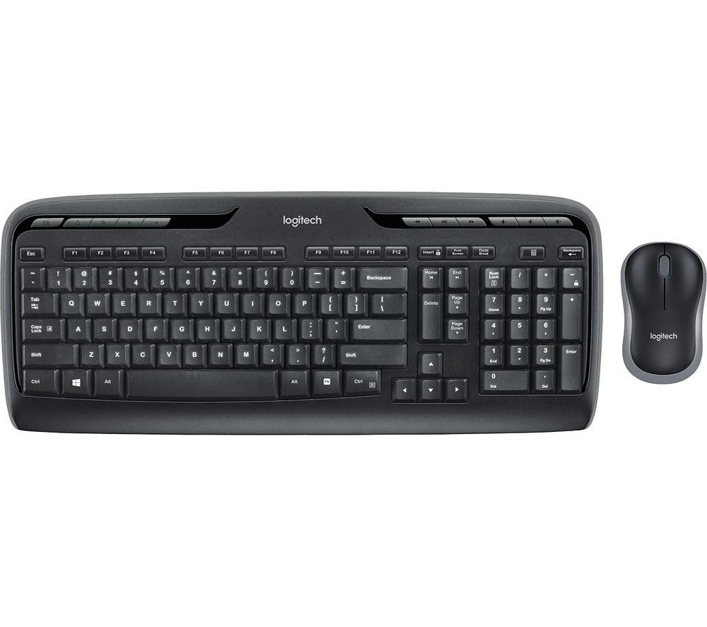 logitech mk330 wireless keyboard mouse set currys 5099206033627 ebay. Black Bedroom Furniture Sets. Home Design Ideas