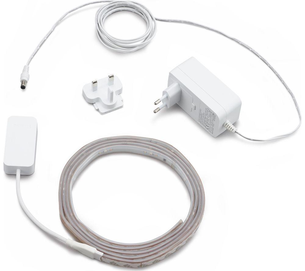 pick up e7e55 37cba Details about PHILIPS Hue Smart LightStrip Plus Starter Kit - 2 m - Currys