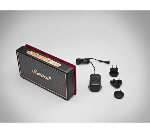 Details about MARSHALL Stockwell Portable Bluetooth Wireless Speaker with  Flip Cover - Black
