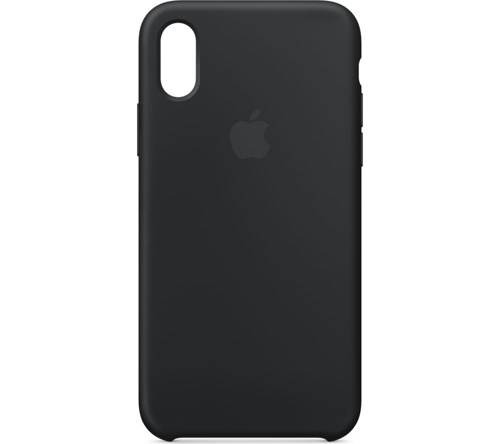 5e2a8243595f1 APPLE iPhone X Silicone Case - Black - Currys 190198522634