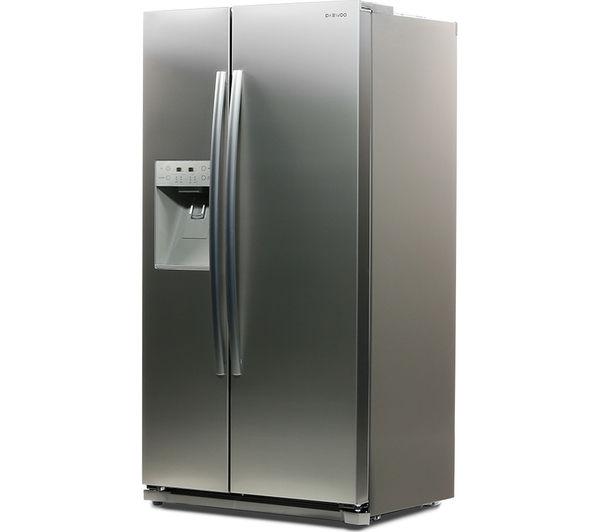 DAEWOO DRQ29NPES American-Style Fridge Freezer Silver 5031117414232