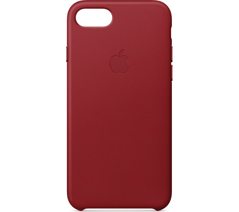 the best attitude 55619 1a22f Details about APPLE iPhone 8 & 7 Leather Case - Red - Currys