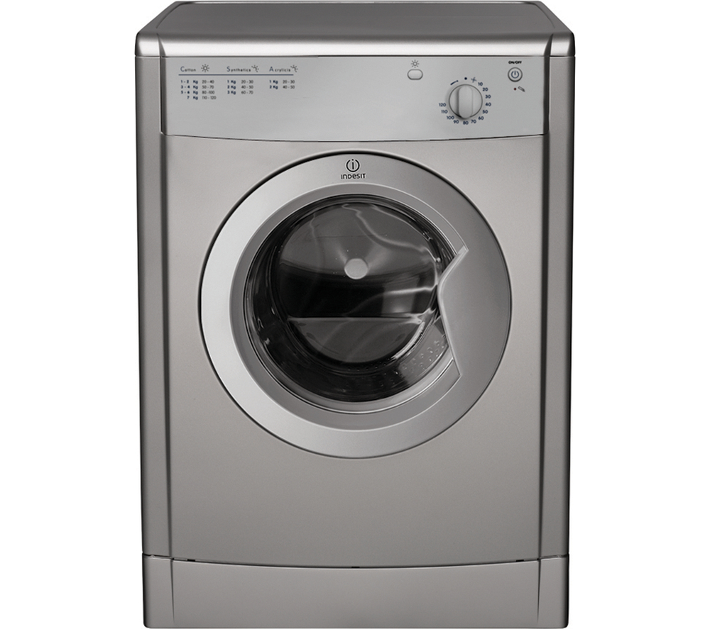 INDESIT IDV75S Vented Tumble Dryer Silver 7 kg Capacity 3.98 kWh ...