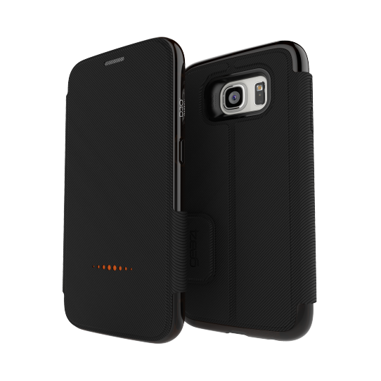 buy online 8d50c 110f2 Details about GEAR4 Wallet Case with D3O Protection for Samsung Galaxy S7  Black - Currys