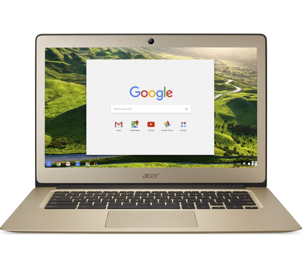 ACER 14 CB3-431 14 Inch Intel® Celeron™ Chromebook - 32 GB eMMC, Gold - Currys