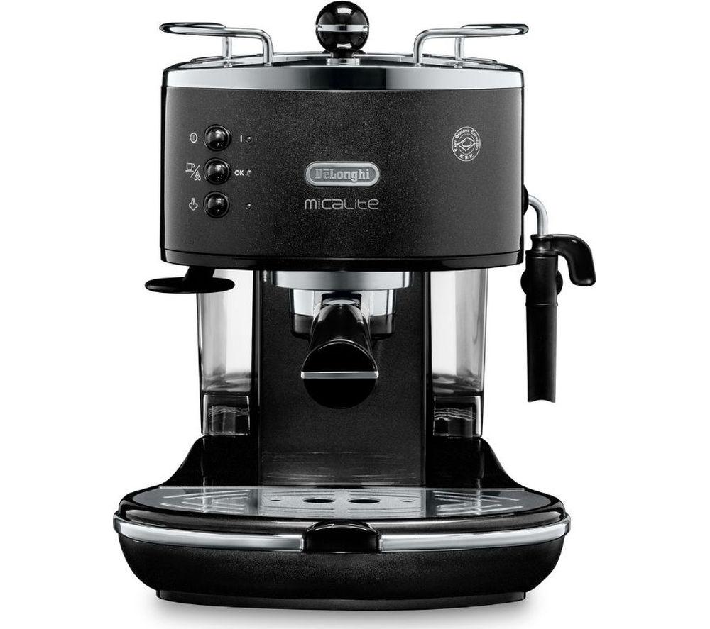 Coffee Machine Deals Delonghi Icona Micalite Ecom311bk Coffee Machine Black Ebay