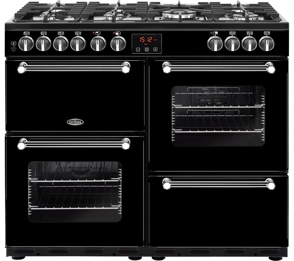 belling kensington 100dft dual fuel range cooker black chrome rh ebay co uk belling gas oven installation instructions Belling Dual Ovens 1999