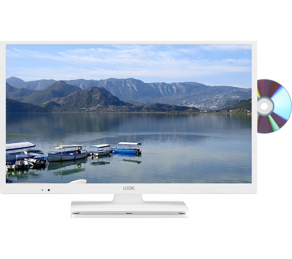 Logik L24hedw18 24 Led Tv With Built In Dvd Player White Ebay