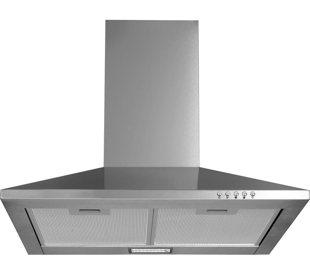 Sentinel LOGIK L60CHDG17 Chimney Cooker Hood   Stainless Steel U0026 Glass
