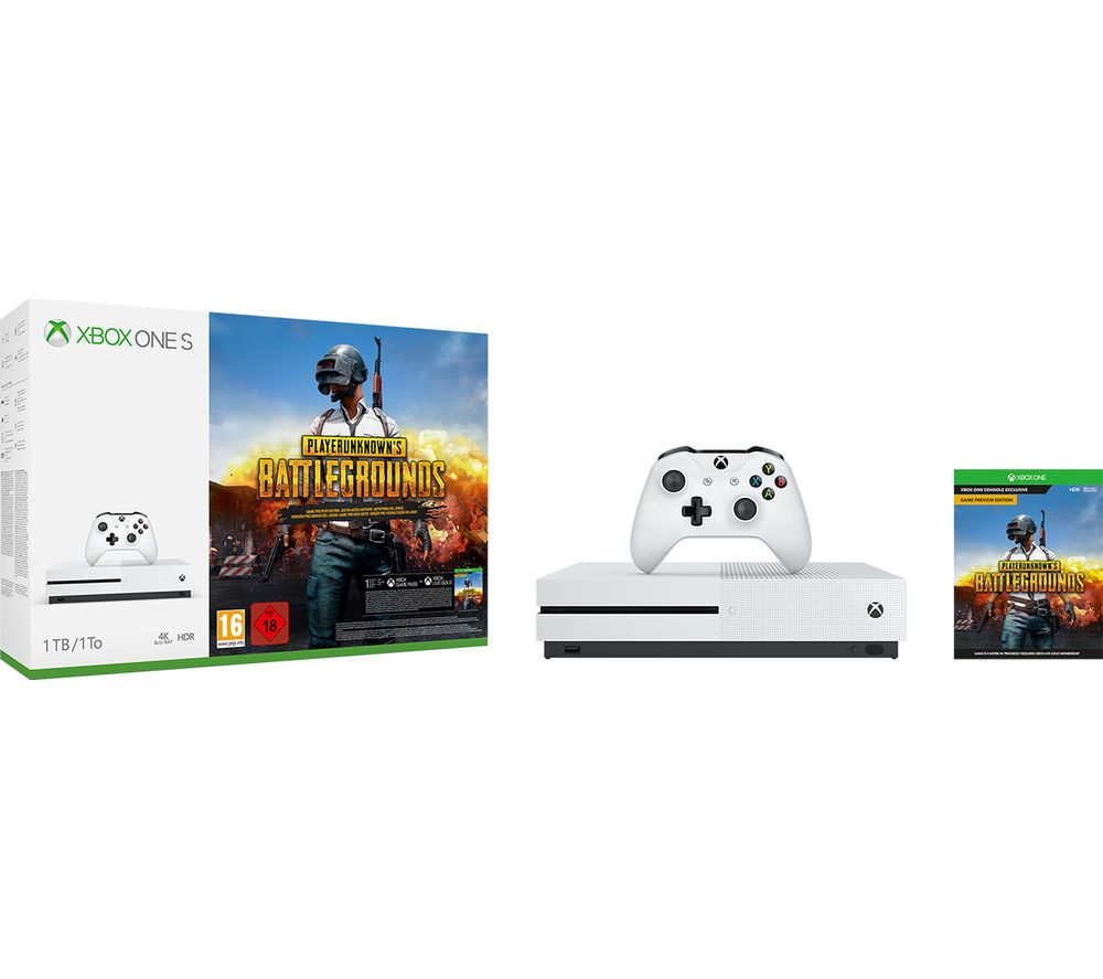 f7f615cd8ca Sentinel MICROSOFT Xbox One S with PlayerUnknown s Battlegrounds - Currys