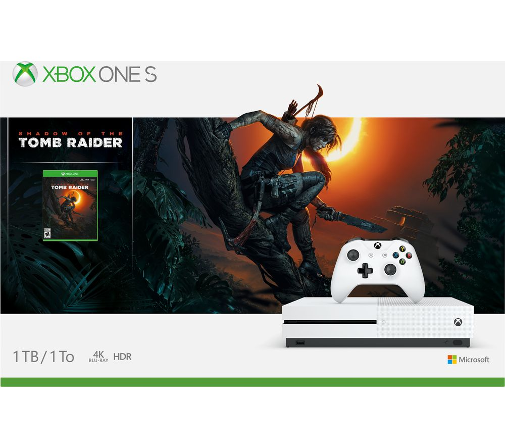 ada70689feb Sentinel MICROSOFT Xbox One S with Shadow of the Tomb Raider - Currys
