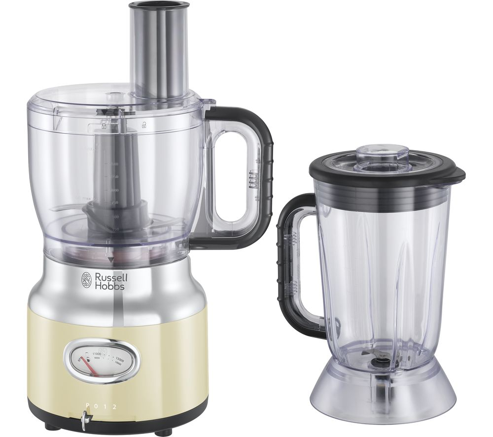 Details about RUSSELL HOBBS Retro 25182 Food Processor - Cream - DAMAGED  BOX - Currys