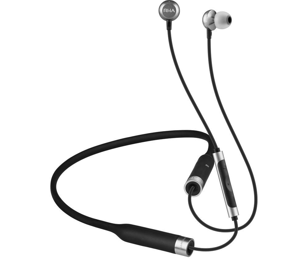 b5493083291 Sentinel RHA MA650 Wireless Bluetooth Headphones - Black & Silver - Currys