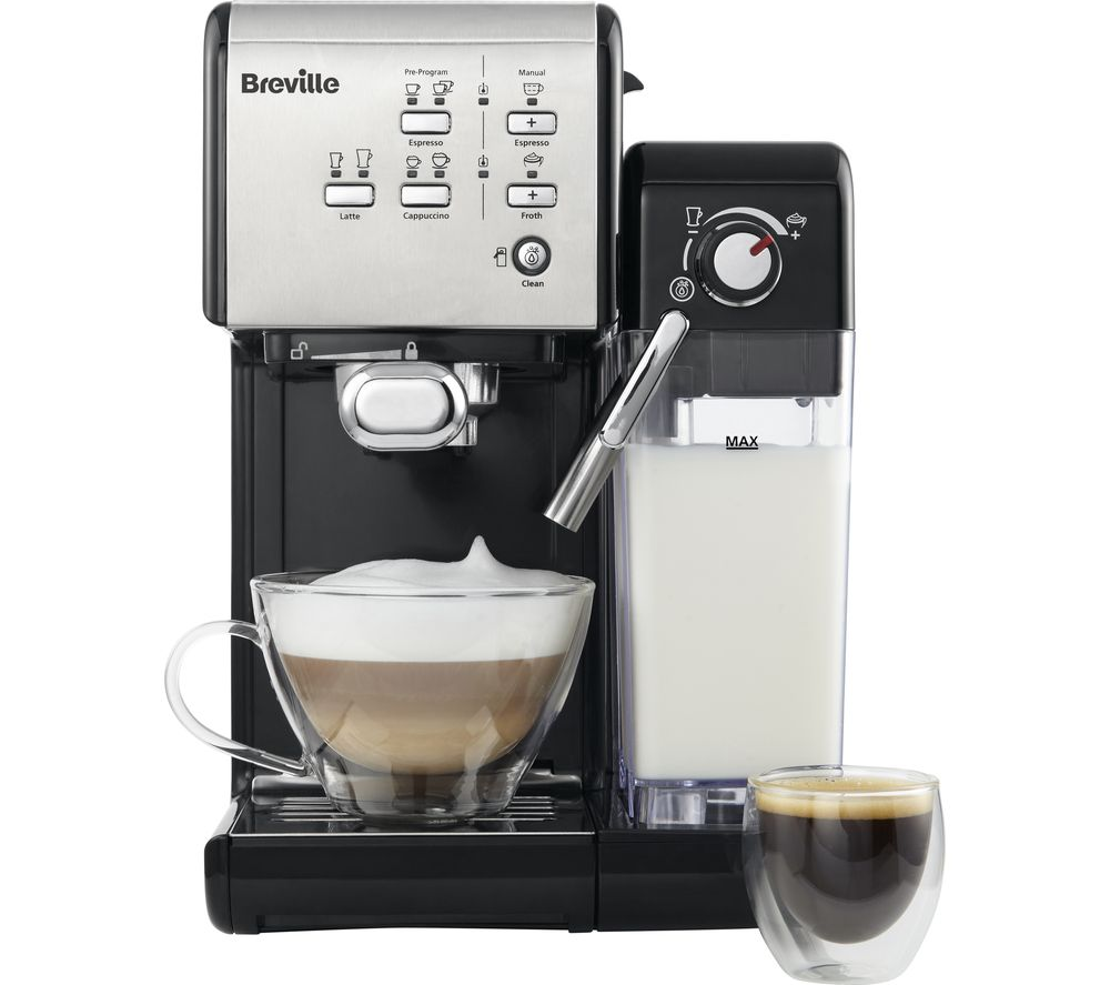 Details About Breville One Touch Vcf107 Coffee Machine Black Chrome Currys