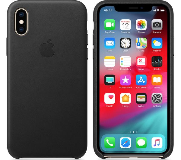 wholesale dealer ad4b7 eb31e Details about APPLE iPhone Xs Leather Case - Black - Currys