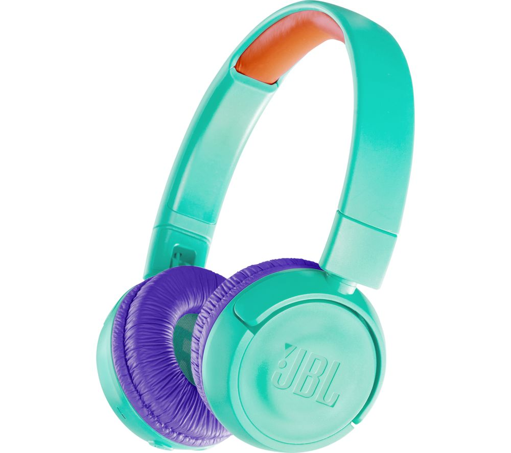 25b11025d04 Sentinel JBL JR300BT Wireless Bluetooth Kids Headphones - Teal - Currys