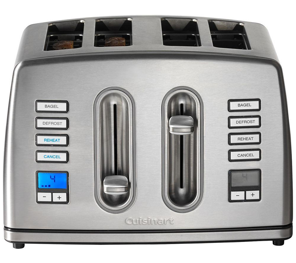 pdp reviews dining toaster cuisinart slice metal brushed classic stainless in kitchen allmodern