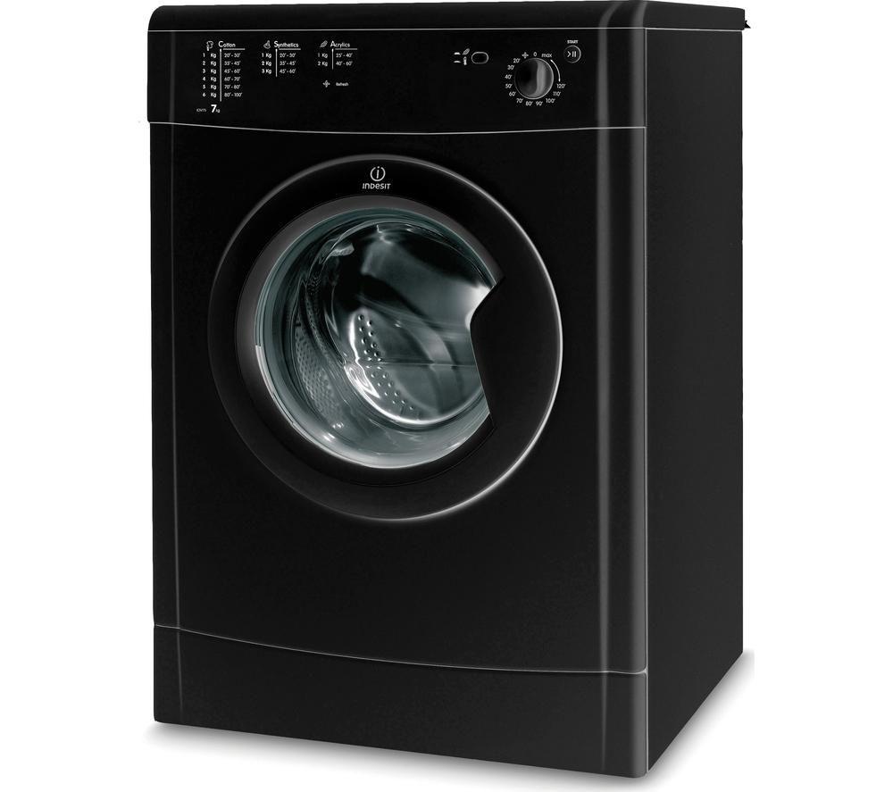 INDESIT Ecotime IDV75BK Vented Tumble Dryer - Black   eBay
