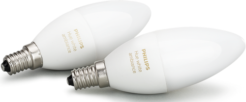 philips hue white ambiance e14 led smart light bulb candle twin pack dimmable ebay. Black Bedroom Furniture Sets. Home Design Ideas