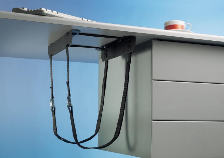 Under Desk Pc Cpu 42 Holder Straps Mount Bracket New Ebay