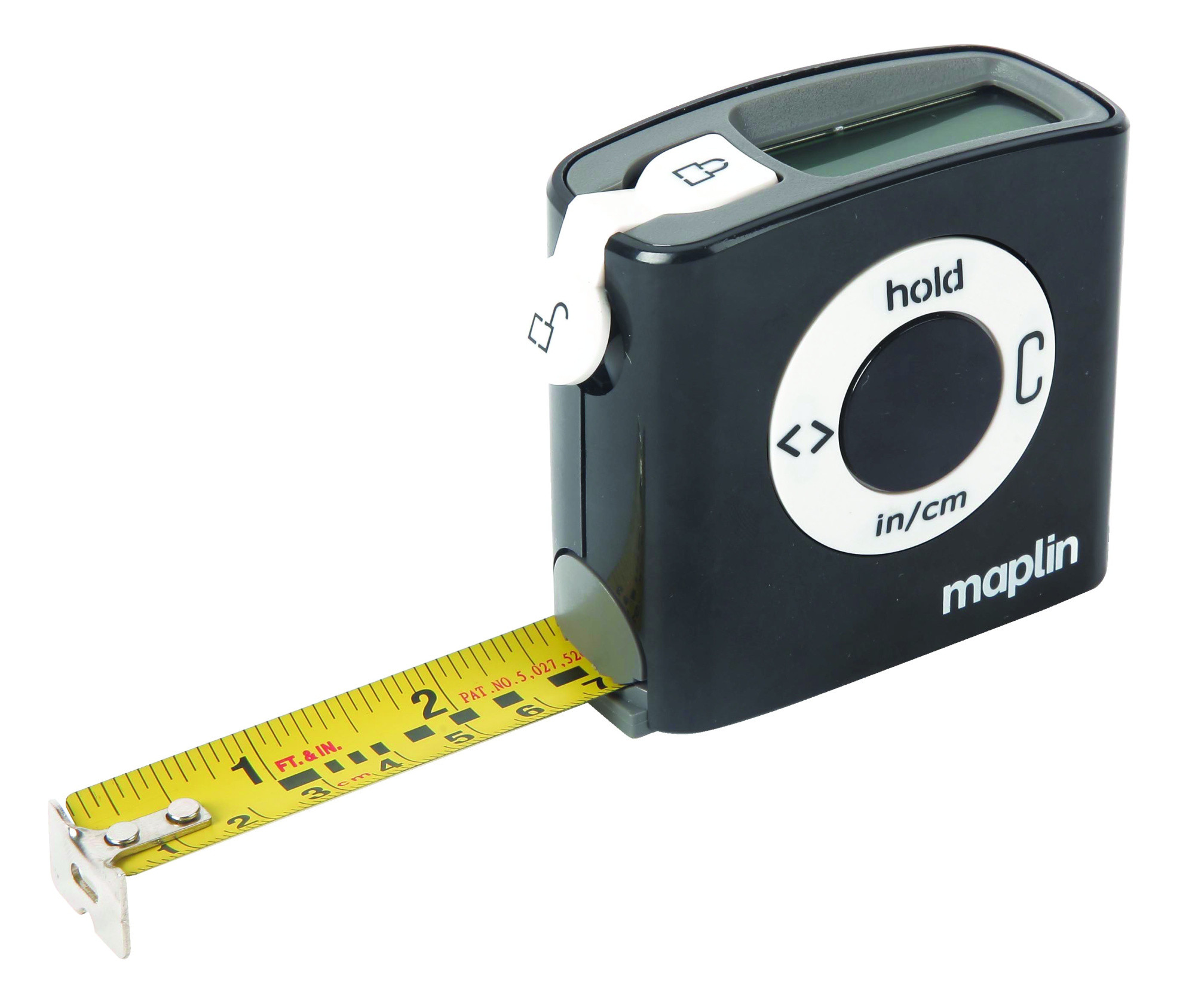 digital tape measure 5m metric imperial pause button automatic lock