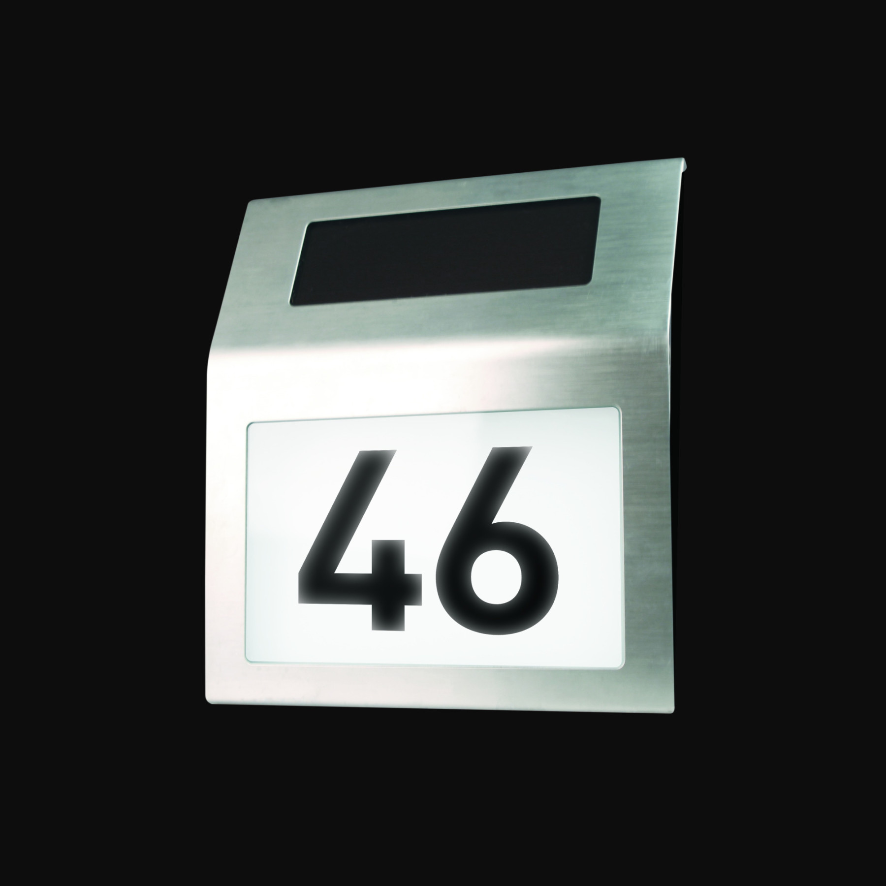 Great Maplin Solar Powered Door House Number White Light Stainless Steel Outdoor