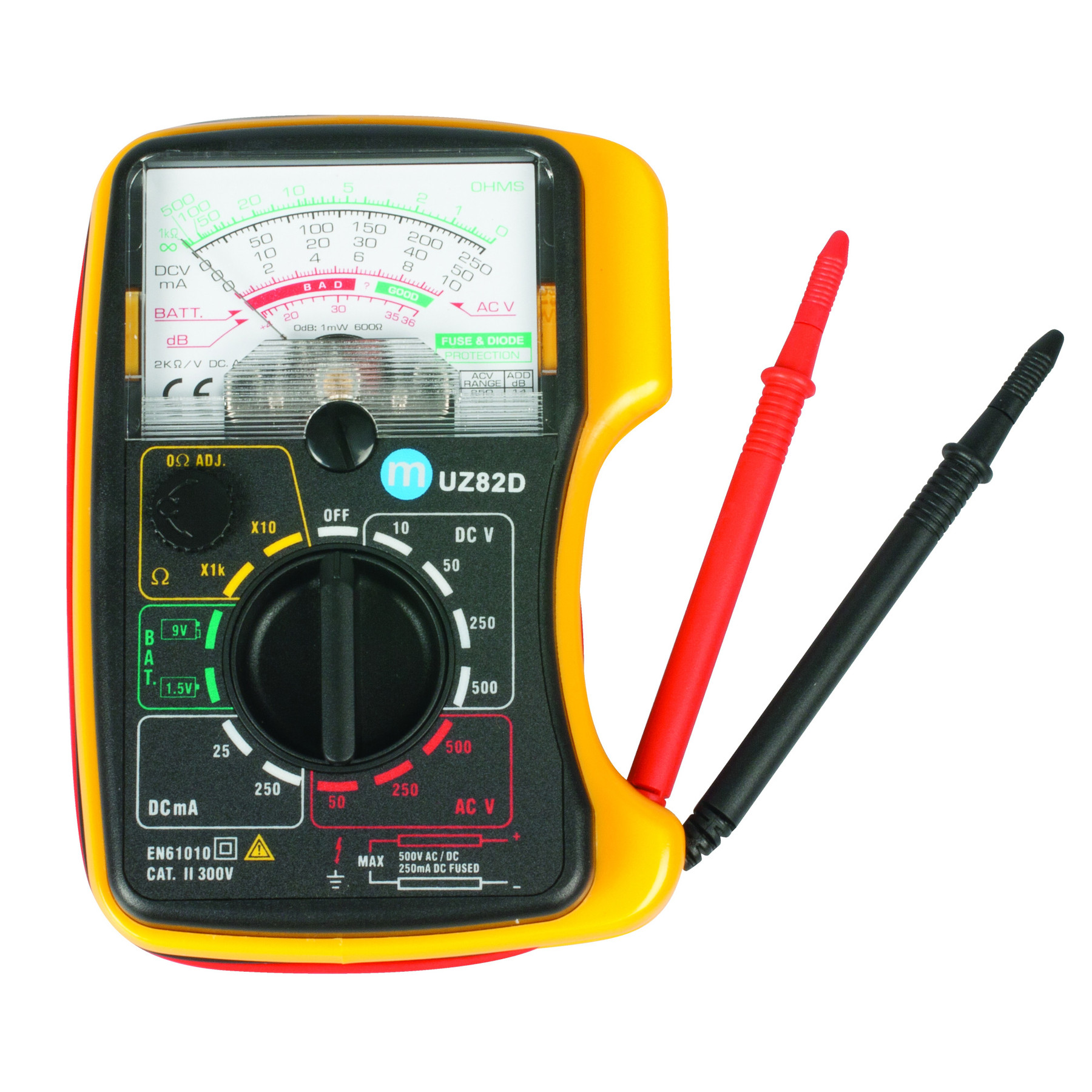 how to read ac voltage on analog multimeter