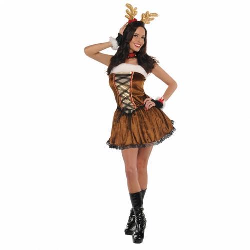 cd2e251dac39 Sexy Christmas Ladies Fancy Dress Xmas Festive Winter Wonderland ...