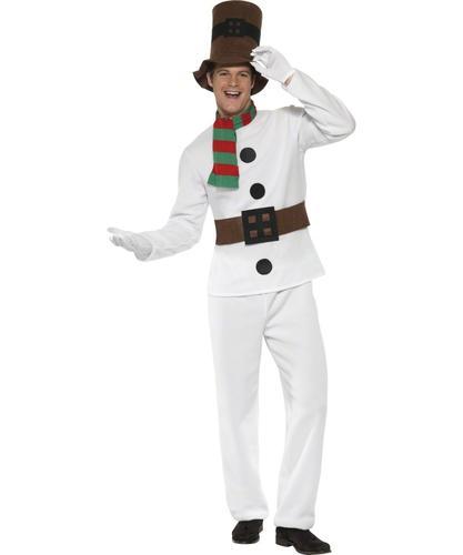 Mr   Miss Snowman Adults Fancy Dress Christmas Winter Wonderland ... a018cdb28