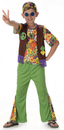 Cool-Hippie-Kids-Fancy-Dress-1960s-70s-Groovy-  sc 1 st  eBay : childrens 70s costumes  - Germanpascual.Com