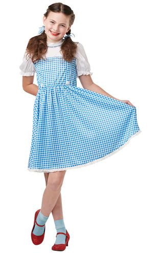 Dorothy-Girls-Fancy-Dress-World-Book-Day-Wizard-Of-Oz-Childrens-Kids-Costume-New thumbnail 3