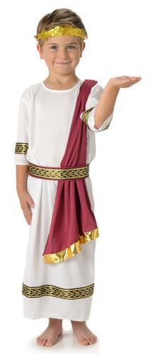 Roman-Emperor-Boys-Fancy-Dress-Ancient-Greek-Historical-  sc 1 st  eBay & Roman Emperor Boys Fancy Dress Ancient Greek Historical Caesar Toga ...