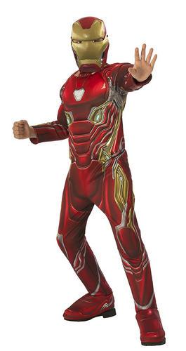 Deluxe-Iron-Man-garcons-Robe-Fantaisie-Super-Heros-infinity-war-book-Kids-Childs-Costume