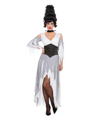 LADIES ZOMBIE BRIDE DEAD CORPSE GHOST GOTHIC HALLOWEEN ADULT FANCY DRESS COSTUME