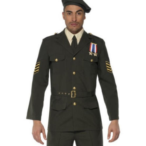 military army officer 1940s fancy dress mens james bond costume adult outfit new ebay. Black Bedroom Furniture Sets. Home Design Ideas