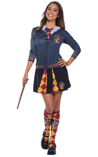 Harry-Potter-Top-Ladies-Fancy-Dress-Hogwarts-Uniform-Adults-Book-Day-Costumes thumbnail 3