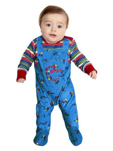 Chucky-Baby-Fancy-Dress-Evil-Toy-Doll-Halloween-Horror-Boys-Girls-Kids-Costume thumbnail 2