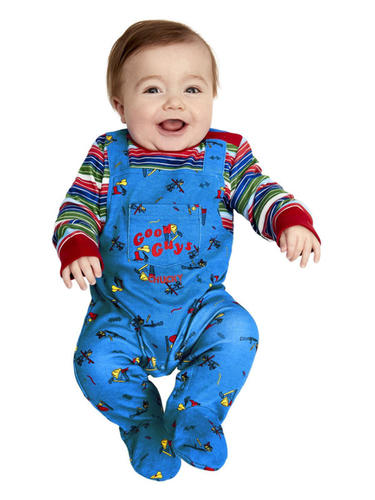 Chucky-Baby-Fancy-Dress-Evil-Toy-Doll-Halloween-Horror-Boys-Girls-Kids-Costume thumbnail 3