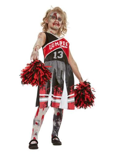 Calzas Niñas Niños Disfraz Halloween Vestido de fantasía No-muertos Zombie Cheerleader