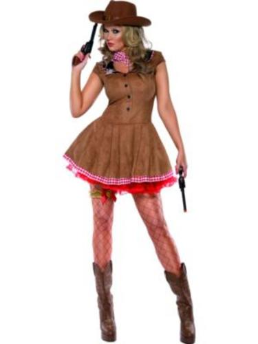 Sexy-Western-Cowgirl-Ladies-Fancy-Dress-Womens-Adults-Cowboy-Costume-UK-8-18-New thumbnail 4