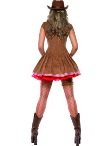 Sexy-Western-Cowgirl-Ladies-Fancy-Dress-Womens-Adults-Cowboy-Costume-UK-8-18-New thumbnail 6