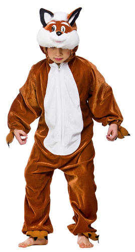 KIDS FANTASTIC FOX ANIMAL BOOK WEEK CHARACTER FANCY DRESS COSTUME SIZES 3-13 YR
