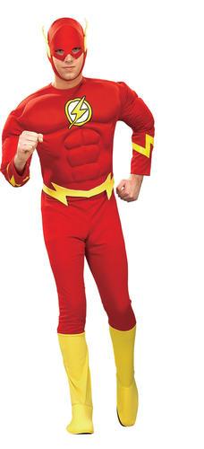Il flash da Uomo Costume Supereroe Fumetti Dc Heroes Adulti Costume Outfit Nuovi