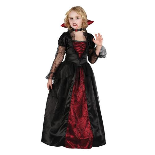 Girls-Wicked-Queen-V&ire-Princess-Halloween-Kids-Fancy-  sc 1 st  eBay & Girls Wicked Queen Vampire Princess Halloween Kids Fancy Dress ...