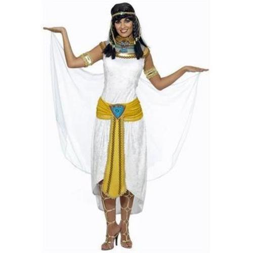 Cleopatra-Egyptian-Ladies-Fancy-Dress-Halloween-Egypt-Womens-Adult-Costume-6-24 thumbnail 3